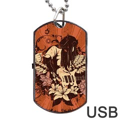 Rock Music Moves Me Dog Tag Usb Flash (one Side)