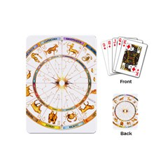 Zodiac  Institute Of Vedic Astrology Playing Cards (mini)  by Sapixe