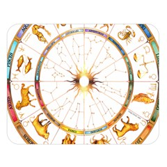 Zodiac  Institute Of Vedic Astrology Double Sided Flano Blanket (large)  by Sapixe