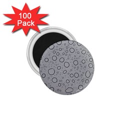 Water Glass Pattern Drops Wet 1 75  Magnets (100 Pack)