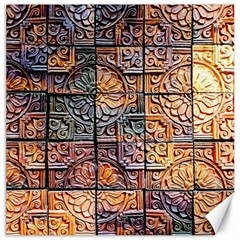 Wooden Blocks Detail Canvas 20  X 20   by Sapixe