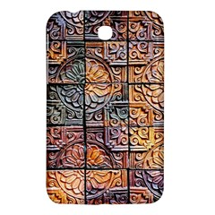 Wooden Blocks Detail Samsung Galaxy Tab 3 (7 ) P3200 Hardshell Case  by Sapixe