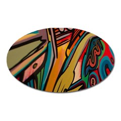 Vivid Colours Oval Magnet