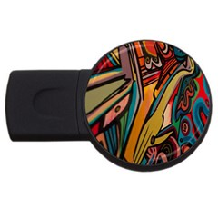 Vivid Colours Usb Flash Drive Round (2 Gb) by Sapixe