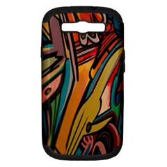Vivid Colours Samsung Galaxy S Iii Hardshell Case (pc+silicone)