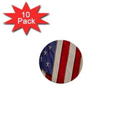 Usa Flag 1  Mini Buttons (10 Pack)  by Sapixe