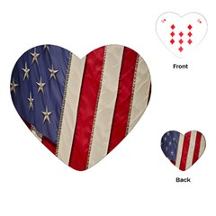 Usa Flag Playing Cards (heart)  by Sapixe