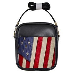 Usa Flag Girls Sling Bags by Sapixe