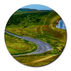 Cliff Coast Road Landscape Travel Round Mousepads