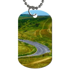 Cliff Coast Road Landscape Travel Dog Tag (one Side)