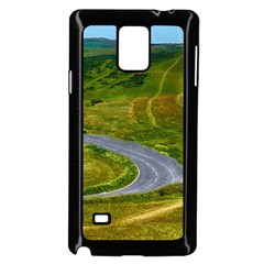 Cliff Coast Road Landscape Travel Samsung Galaxy Note 4 Case (black)