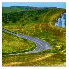 Cliff Coast Road Landscape Travel Large Satin Scarf (square)