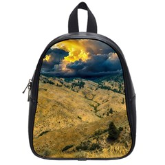 Hills Countryside Landscape Nature School Bag (small) by Sapixe