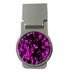 Abstract Background Purple Bright Money Clips (round)
