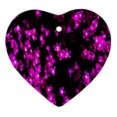 Abstract Background Purple Bright Heart Ornament (two Sides) by Sapixe