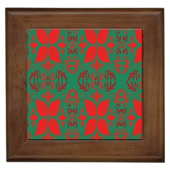 Christmas Background Framed Tiles