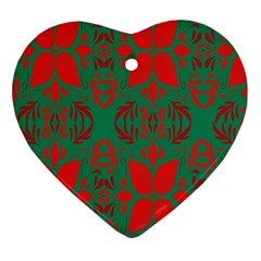 Christmas Background Ornament (heart) by Sapixe