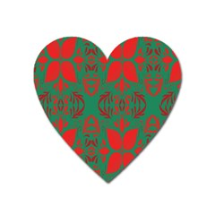 Christmas Background Heart Magnet by Sapixe