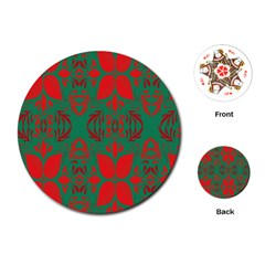 Christmas Background Playing Cards (round)  by Sapixe