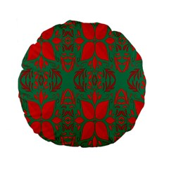 Christmas Background Standard 15  Premium Flano Round Cushions by Sapixe