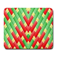 Christmas Geometric 3d Design Large Mousepads by Sapixe