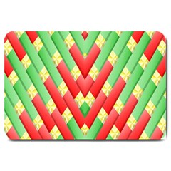 Christmas Geometric 3d Design Large Doormat  by Sapixe