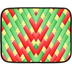 Christmas Geometric 3d Design Double Sided Fleece Blanket (mini)  by Sapixe