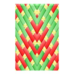 Christmas Geometric 3d Design Shower Curtain 48  X 72  (small)  by Sapixe
