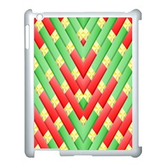 Christmas Geometric 3d Design Apple Ipad 3/4 Case (white) by Sapixe
