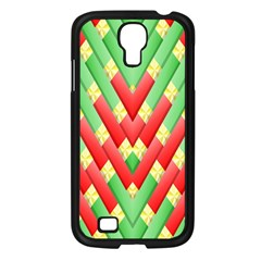 Christmas Geometric 3d Design Samsung Galaxy S4 I9500/ I9505 Case (black) by Sapixe
