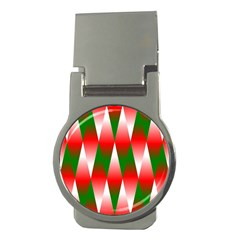 Christmas Geometric Background Money Clips (round)  by Sapixe
