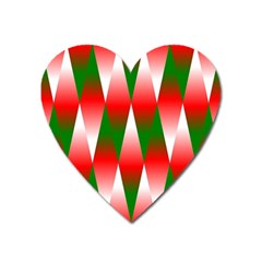 Christmas Geometric Background Heart Magnet by Sapixe