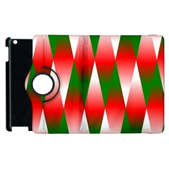 Christmas Geometric Background Apple Ipad 3/4 Flip 360 Case by Sapixe