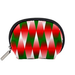 Christmas Geometric Background Accessory Pouches (small)  by Sapixe