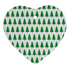 Christmas Background Christmas Tree Ornament (heart) by Sapixe