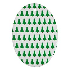 Christmas Background Christmas Tree Oval Ornament (two Sides) by Sapixe