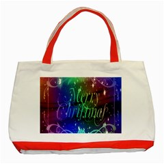 Christmas Greeting Card Frame Classic Tote Bag (red)