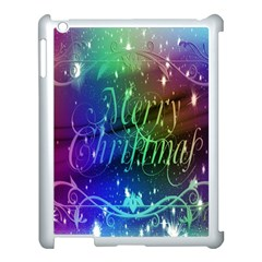 Christmas Greeting Card Frame Apple Ipad 3/4 Case (white) by Sapixe