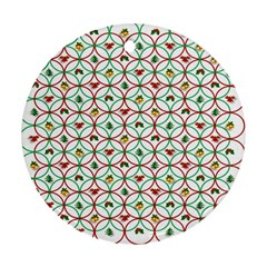 Christmas Decorations Background Round Ornament (two Sides)