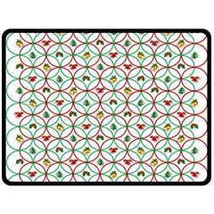 Christmas Decorations Background Double Sided Fleece Blanket (large)