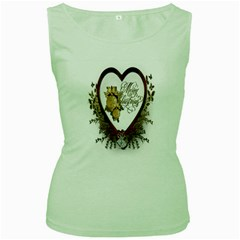 Christmas Décor Decoration Winter Women s Green Tank Top