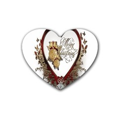 Christmas Décor Decoration Winter Heart Coaster (4 Pack)