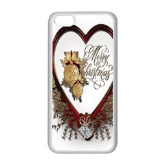 Christmas Décor Decoration Winter Apple Iphone 5c Seamless Case (white) by Sapixe