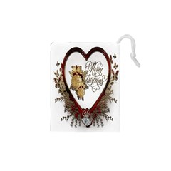 Christmas Décor Decoration Winter Drawstring Pouches (xs)  by Sapixe