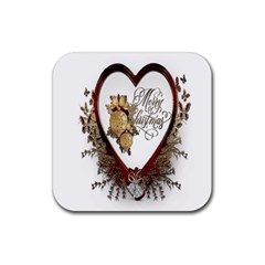 Christmas Décor Decoration Winter Rubber Coaster (square)