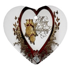 Christmas Décor Decoration Winter Heart Ornament (two Sides) by Sapixe