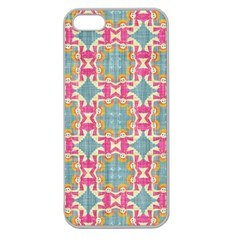 Christmas Holidays Seamless Pattern Apple Seamless Iphone 5 Case (clear)