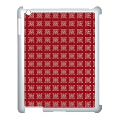 Christmas Paper Wrapping Paper Apple Ipad 3/4 Case (white) by Sapixe