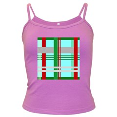 Christmas Plaid Backgrounds Plaid Dark Spaghetti Tank by Sapixe