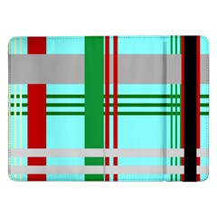 Christmas Plaid Backgrounds Plaid Samsung Galaxy Tab Pro 12 2  Flip Case by Sapixe